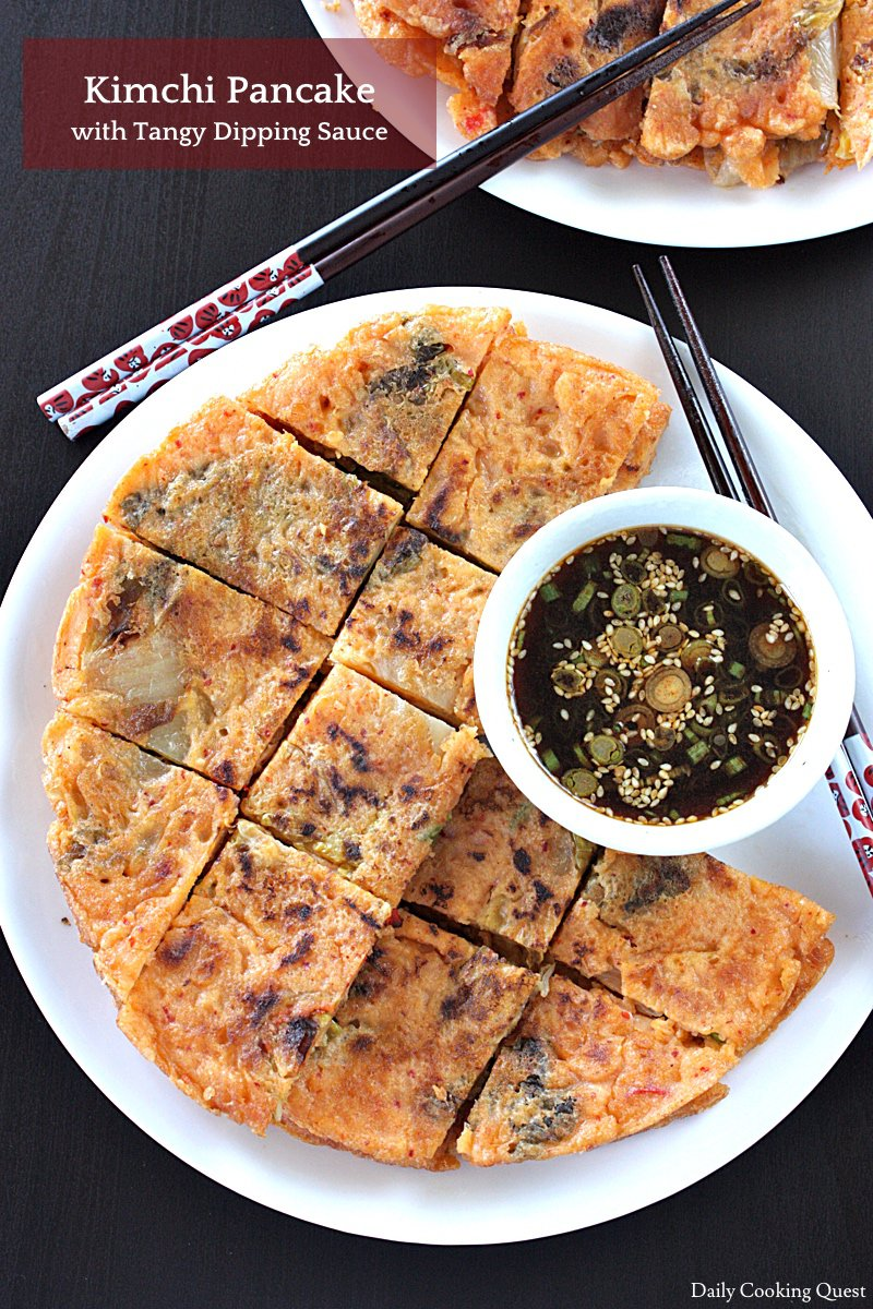 Kimchi Pancake with Tangy Dipping Sauce