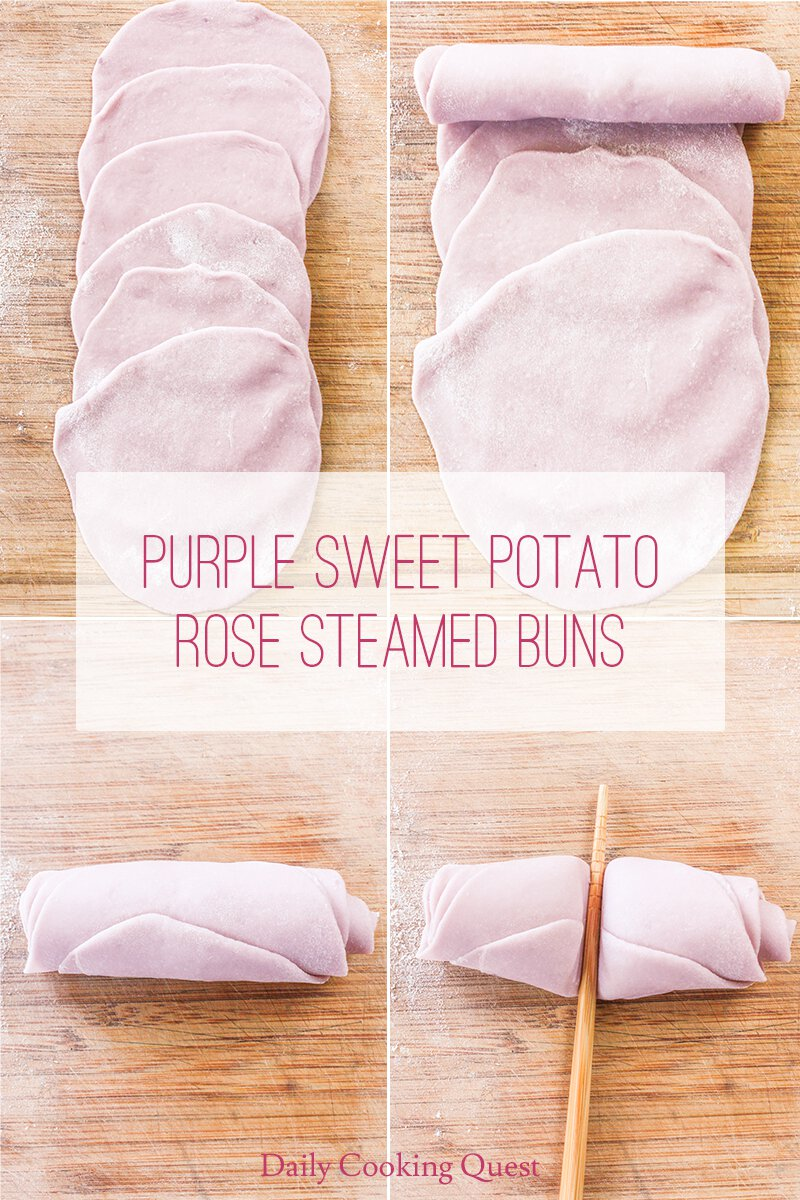 How to make rose shape steamed buns.