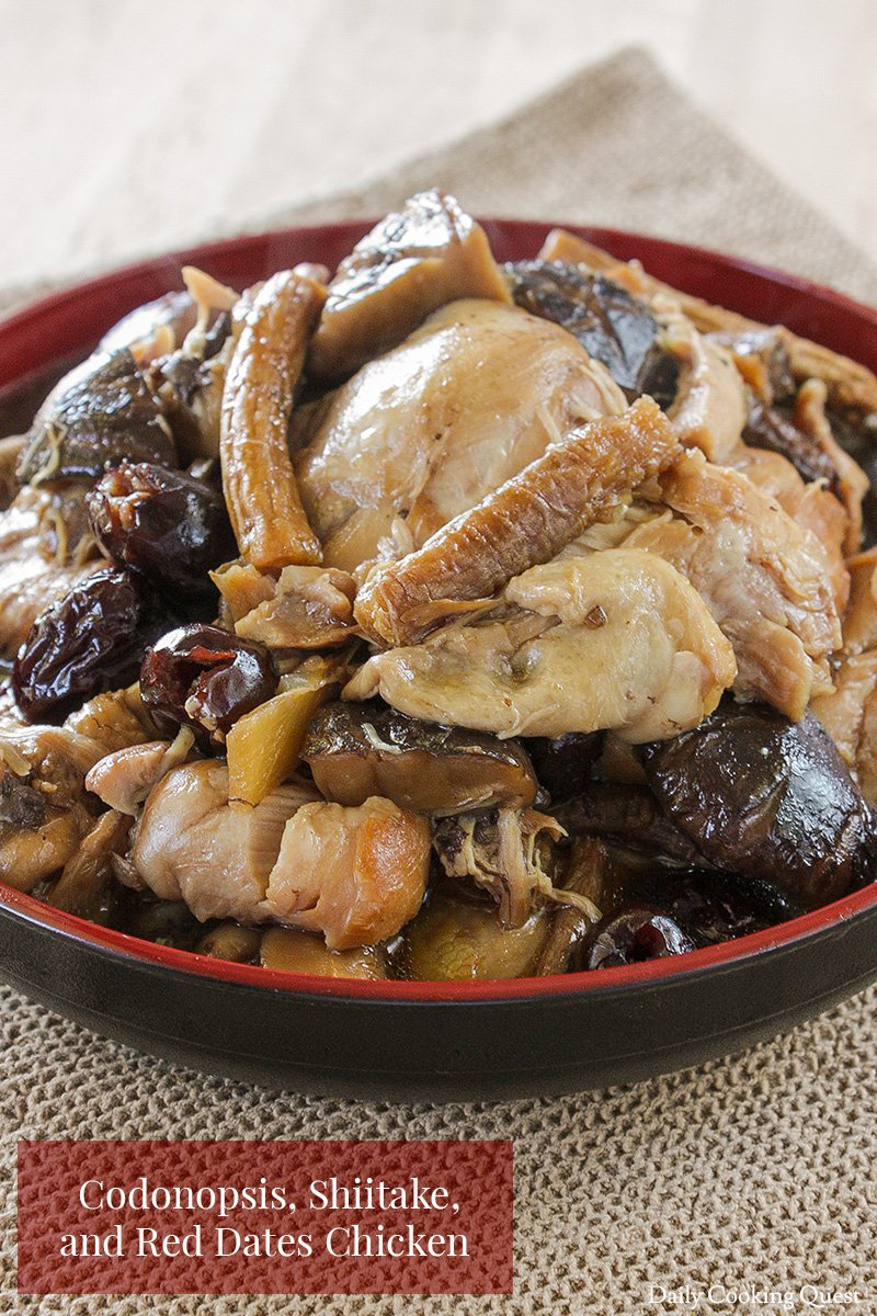 Codonopsis, Shiitake, and Red Dates Chicken