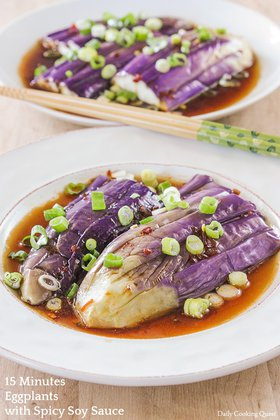 15 Minutes Eggplant with Spicy Soy Sauce