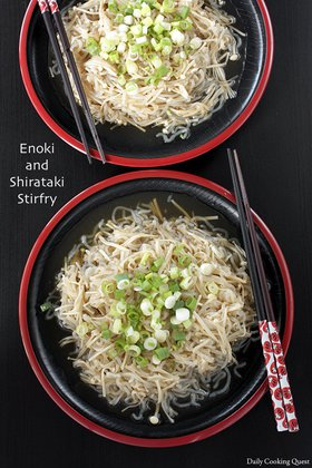 Enoki and Shirataki Stir Fry