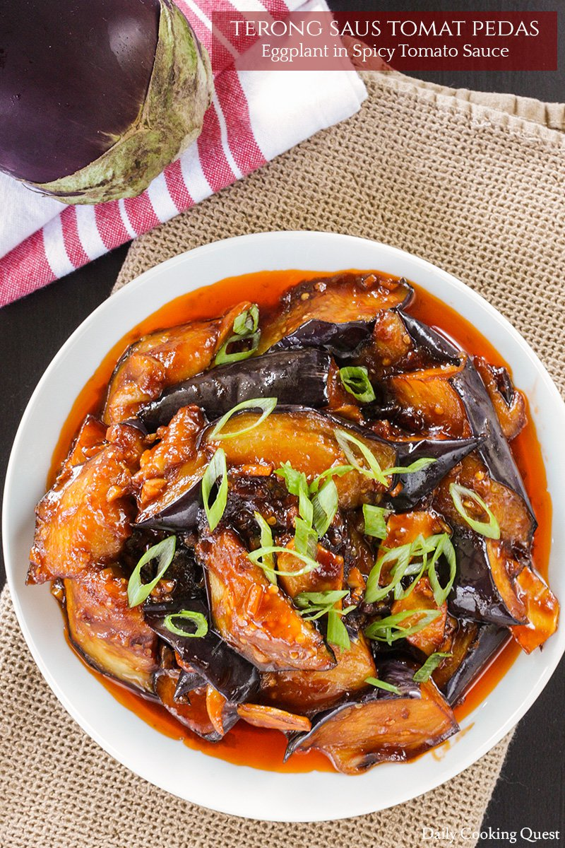 Terong Saus Tomat Pedas - Eggplant in Spicy Tomato Sauce