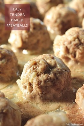 Easy Tender Baked Meatballs
