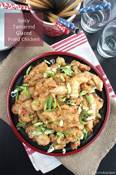 Spicy Tamarind Glazed Fried Chicken