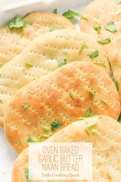Oven Baked Garlic Butter Naan Bread