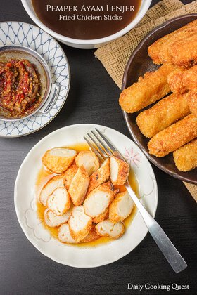 Pempek Ayam Lenjer - Fried Chicken Sticks