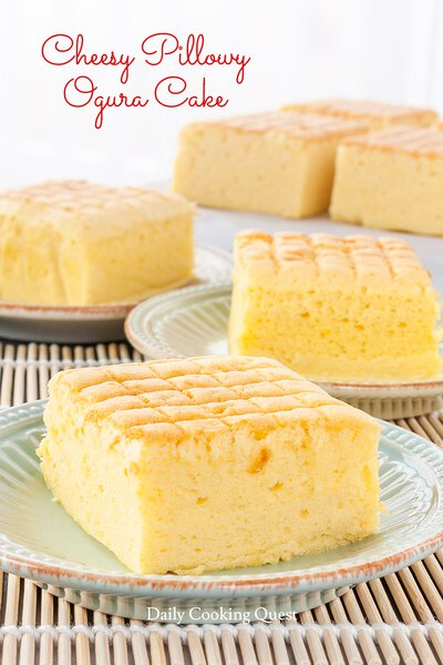 Cheesy Pillowy Ogura Cake