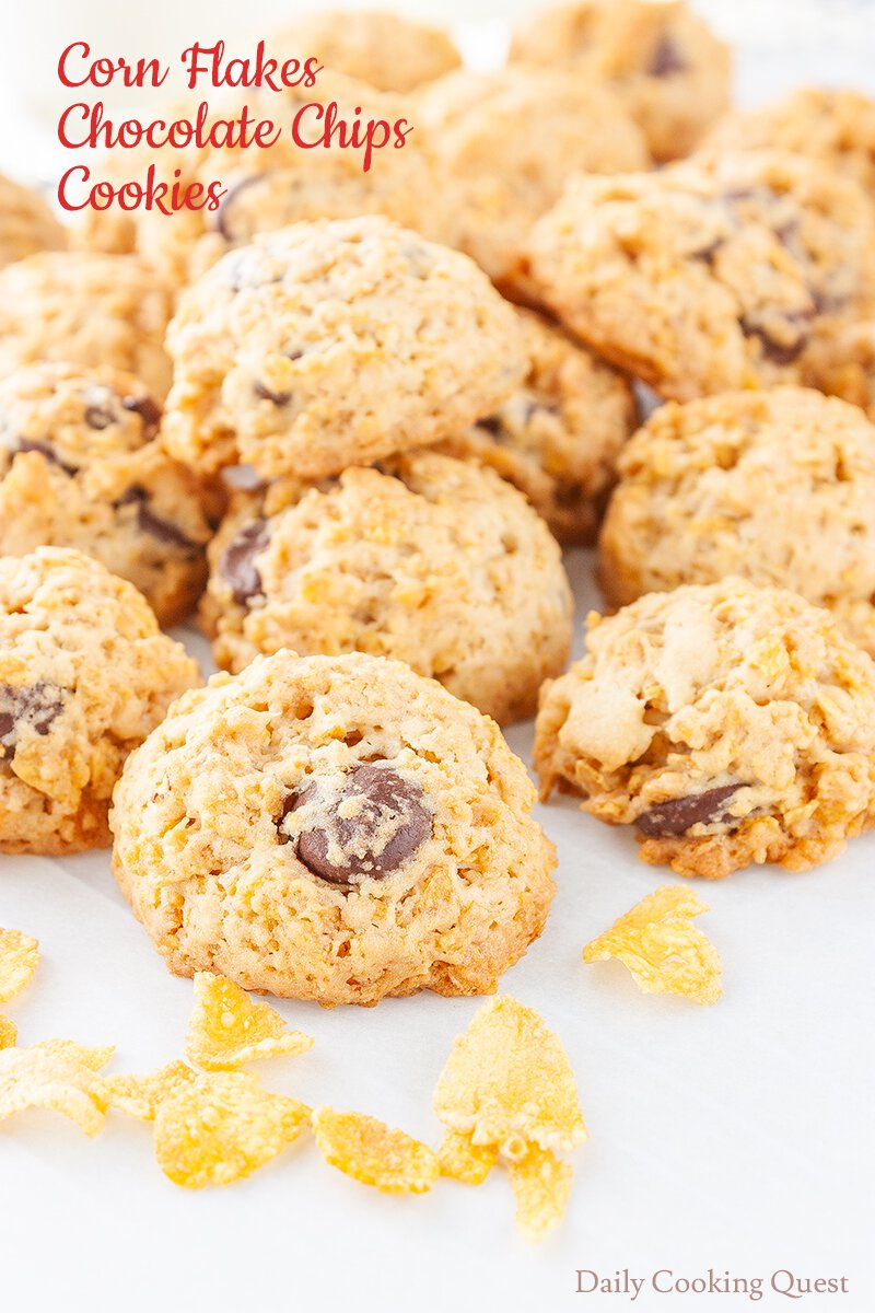 Corn Flakes Chocolate Chips Cookies