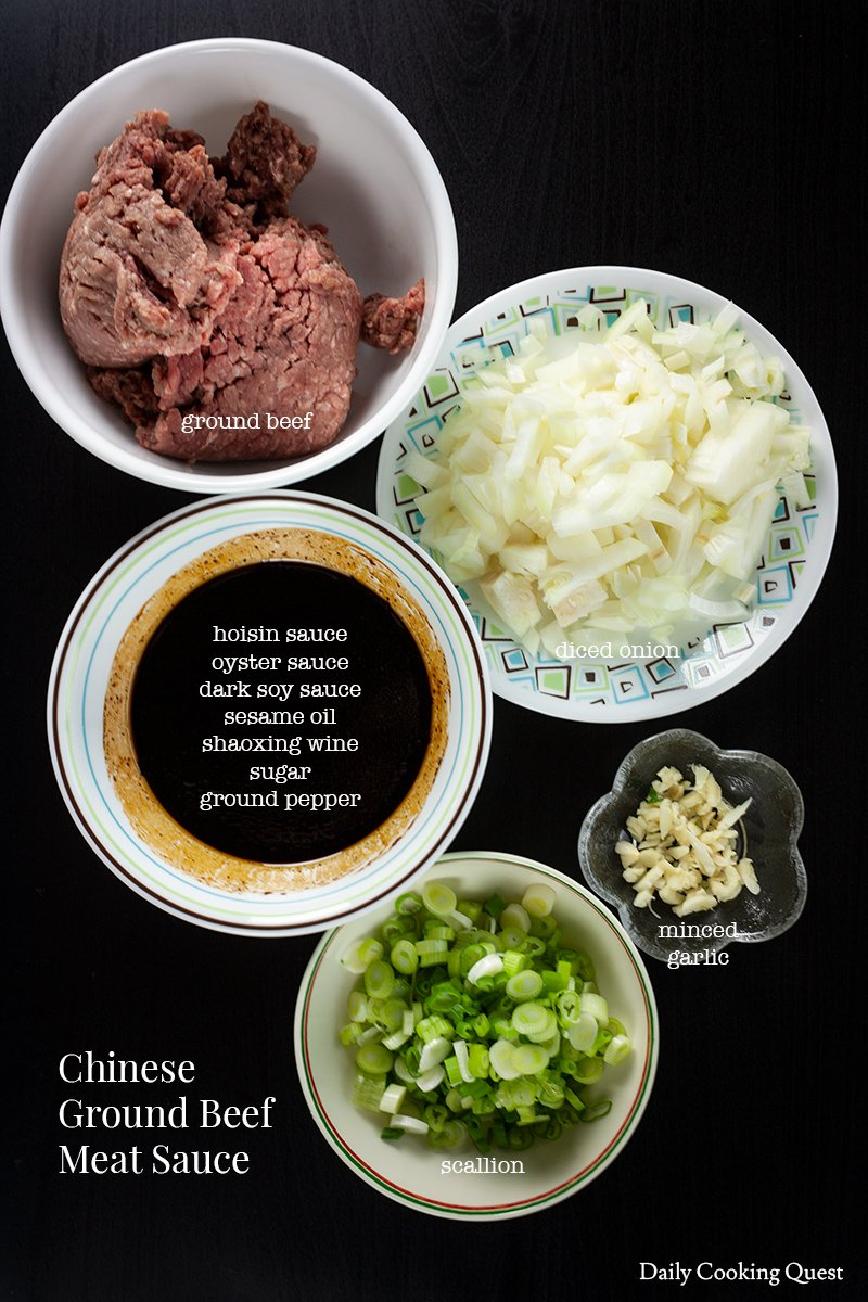 Chinese Ground Beef Meat Sauce
