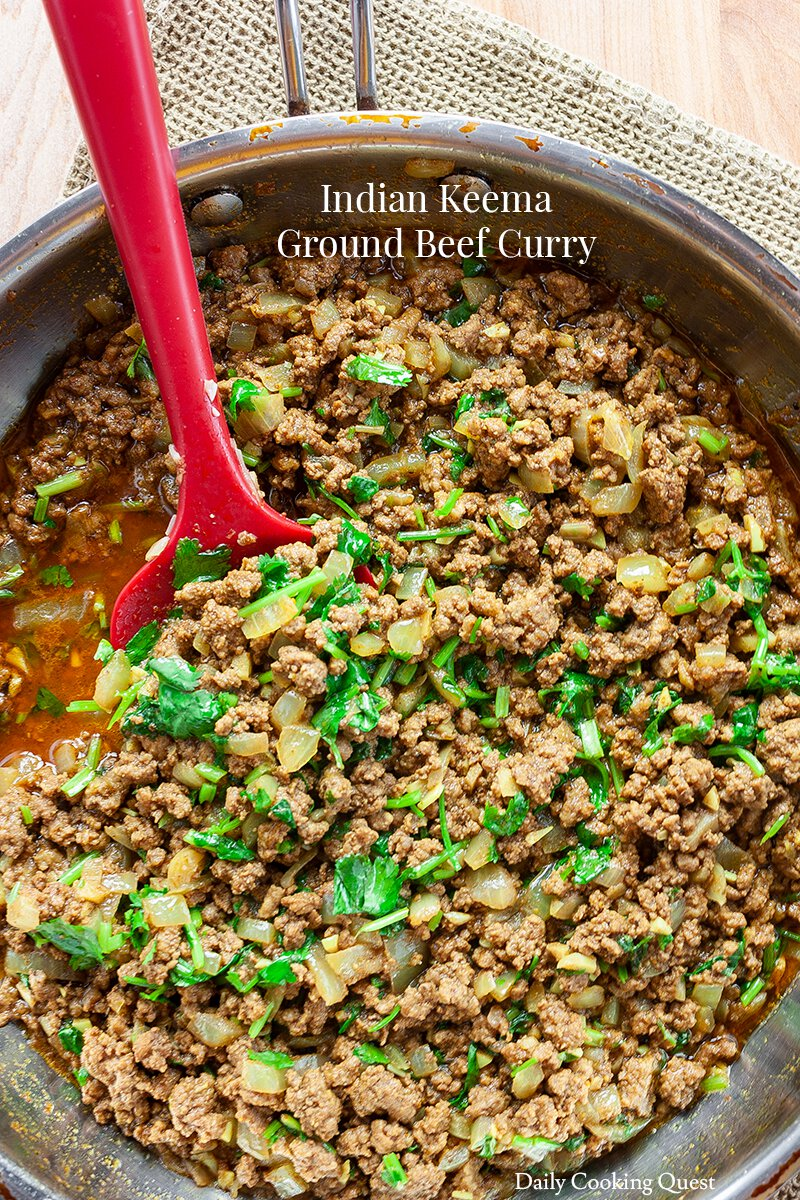 Indian Keema Ground Beef Curry