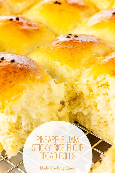 Pineapple Jam Sticky Rice Flour Bread Rolls