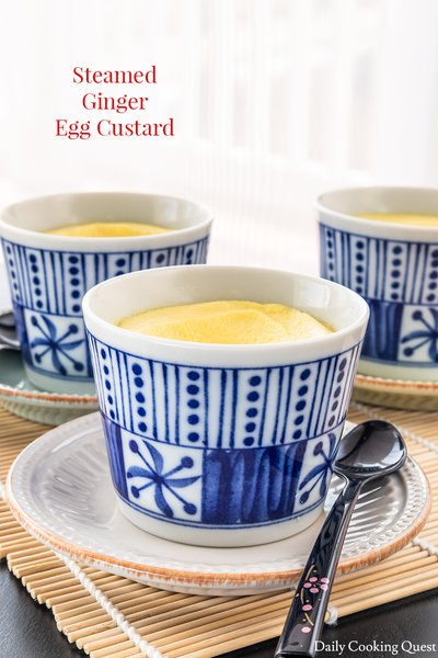 Steamed Ginger Egg Custard