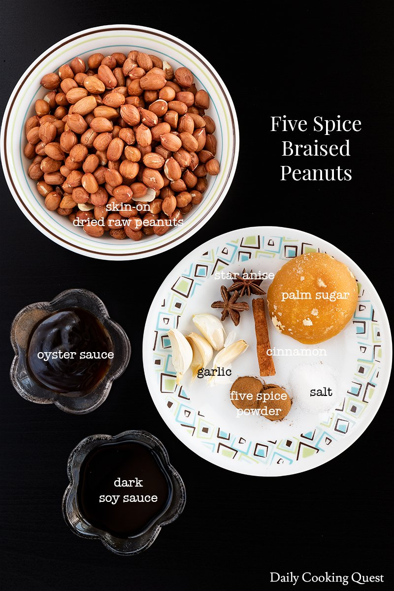 Five Spice Braised Peanuts