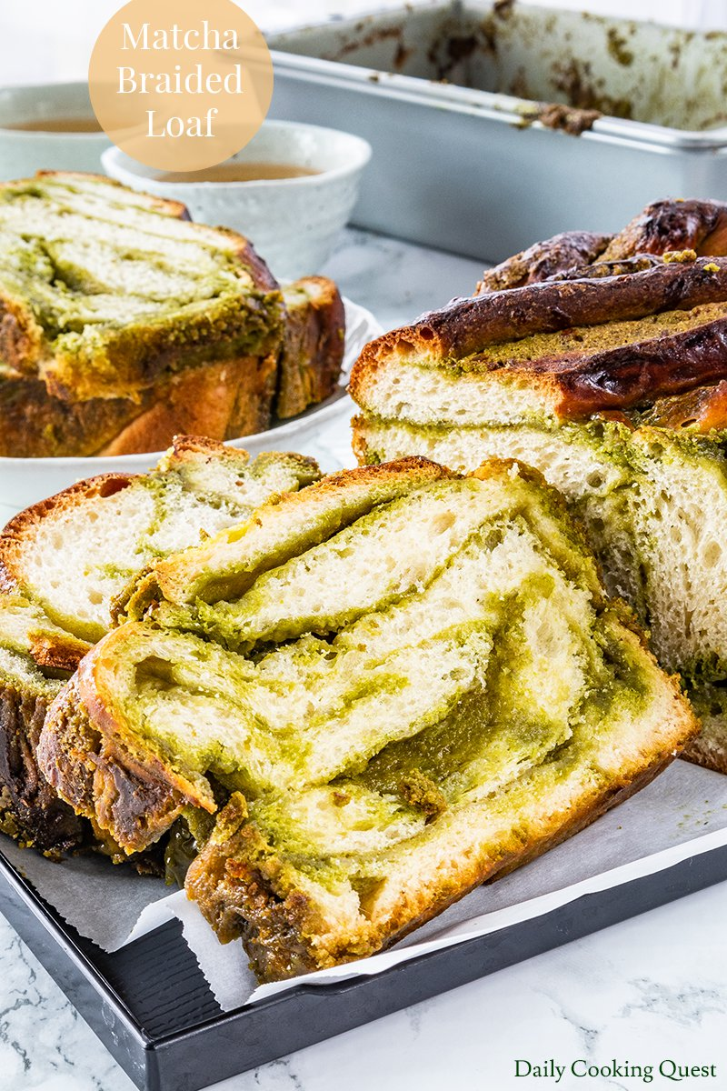 Matcha Braided Loaf.