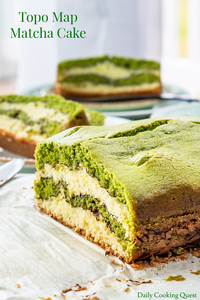 Topo Map Matcha Cake Recipe Daily Cooking Quest