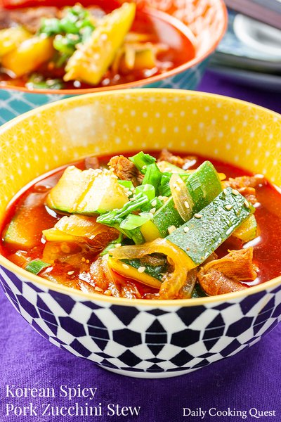 Korean Spicy Pork Zucchini Stew