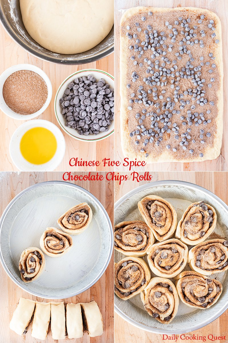 Chinese Five Spice Chocolate Chips Rolls