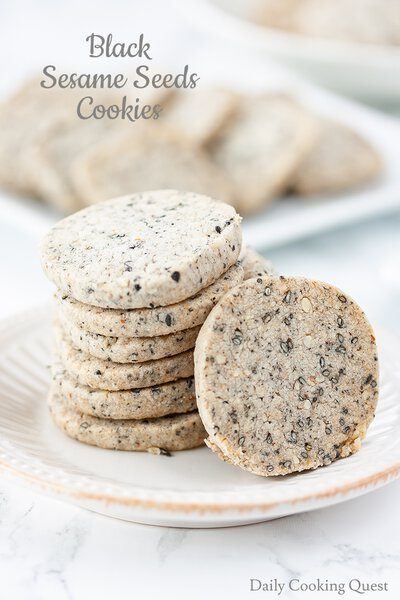 Black Sesame Seeds Cookies
