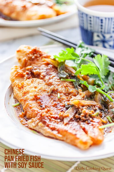 Chinese Pan Fried Fish with Soy Sauce