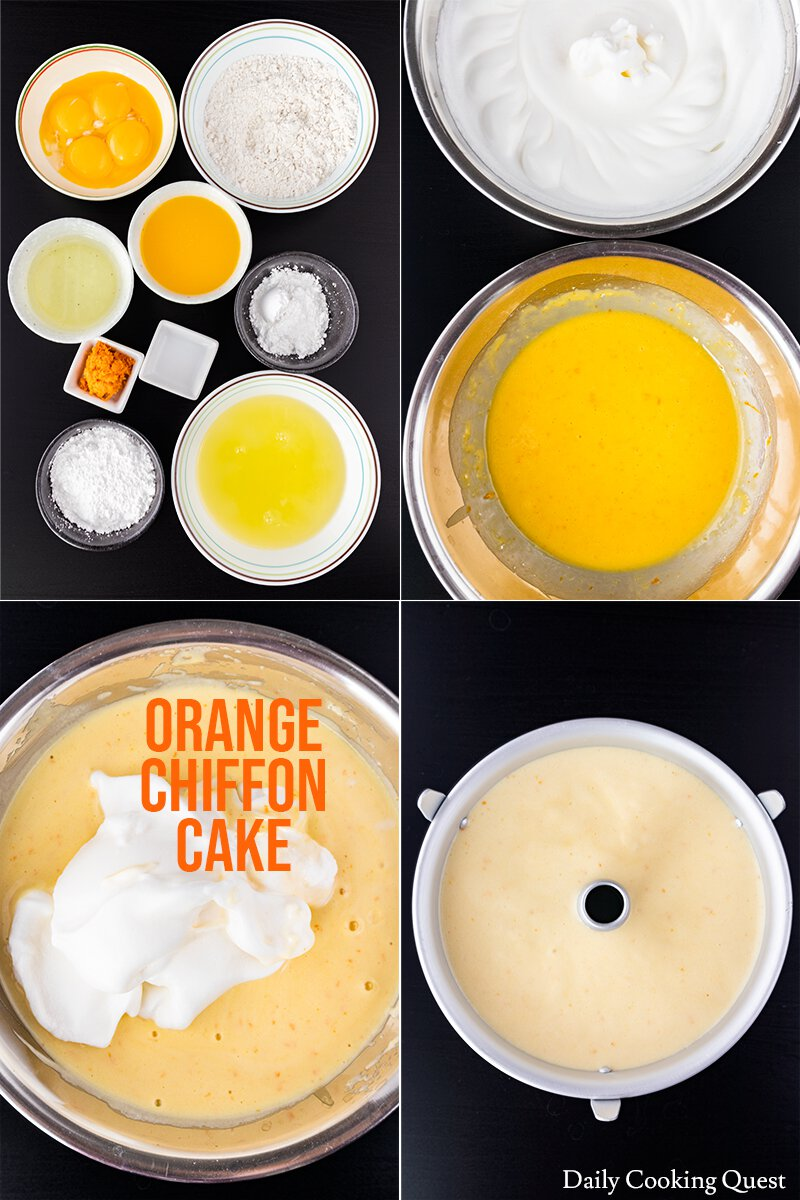 Orange Chiffon Cake - the ingredients and how to prepare the batter