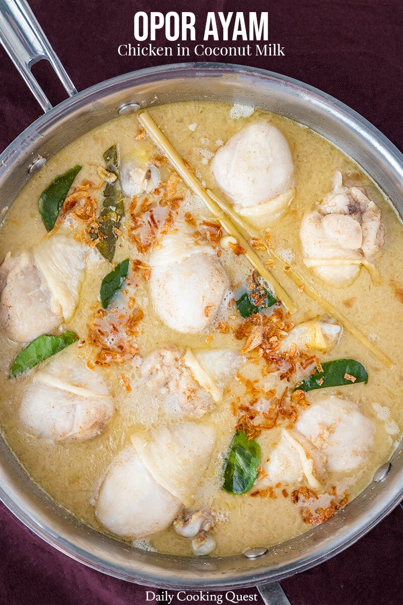 Opor Ayam - Chicken in Coconut Milk