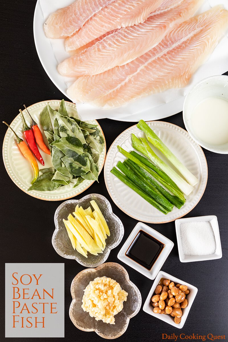 Ingredients for Soy Bean Paste Fish
