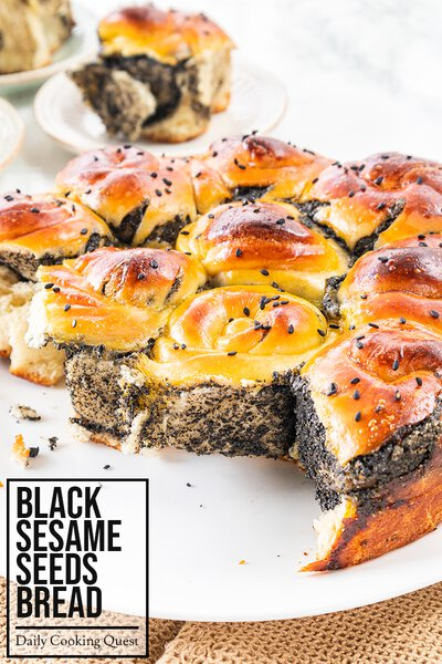 Black Sesame Seeds Bread
