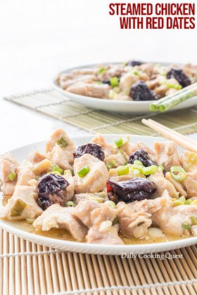 Steamed Chicken with Red Dates