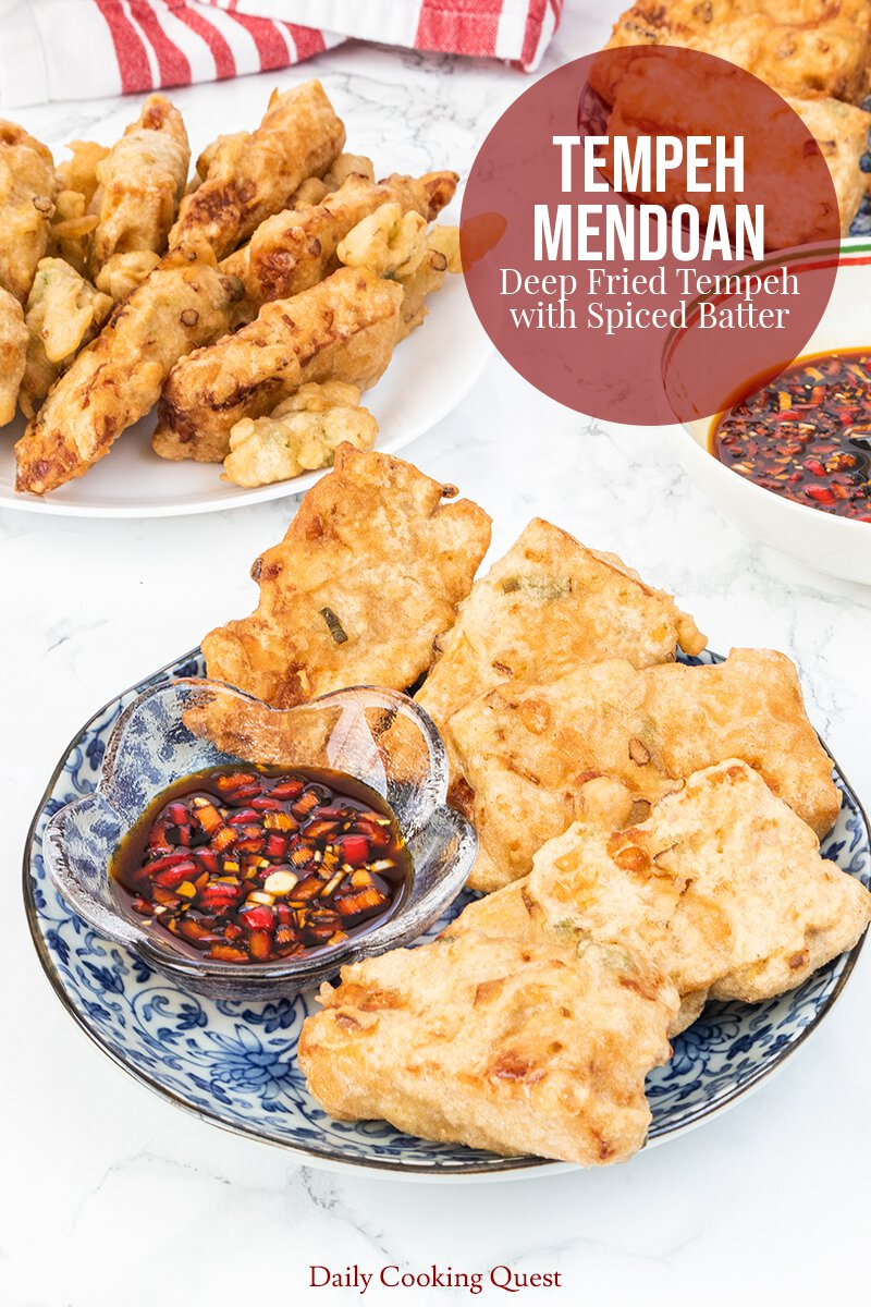Tempeh Mendoan - Deep Fried Tempeh with Spiced Batter.