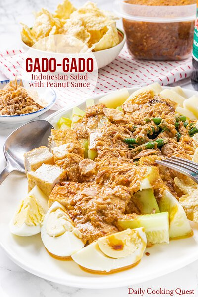 Gado-Gado - Indonesian Salad with Peanut Sauce