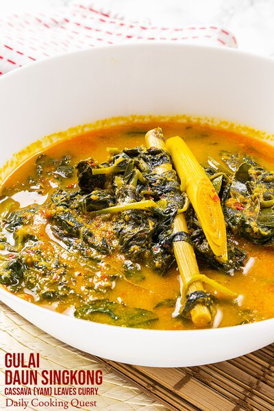 Gulai Daun Singkong - Cassava (Yam) Leaves Curry