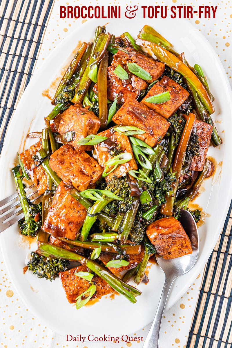 Broccolini Tofu Stir Fry Recipe Daily Cooking Quest
