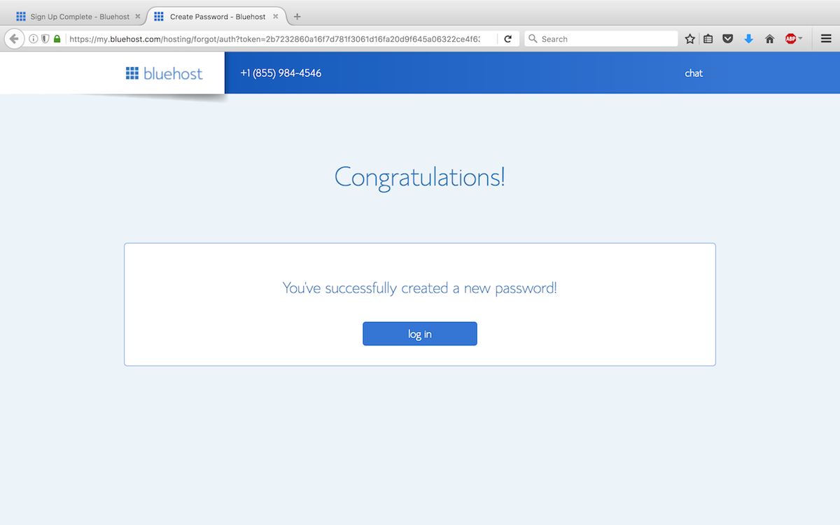 Step 10 - Password is created.