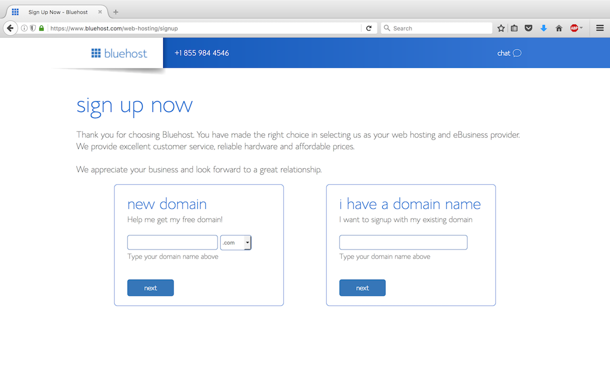 Step 3 - Secure your domain name.