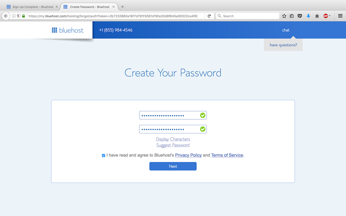Step 9 - Set up your password.